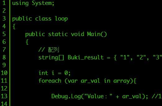 【Unity】foreach文で配列の要素をすべて表示するには「C#」